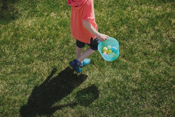 You can follow your kids around with a tablet or phone to video call grandparents and have a virtual Easter egg hunt.