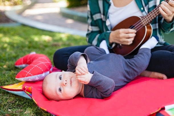 Play music for the first 20 minutes of your child's bedtime and then switch it off, experts say.