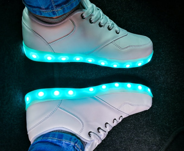 Light-up shoes are fun for kids, but they must be properly disposed of instead of thrown in the trash.