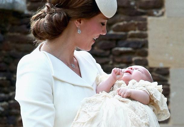 Kate Middleton holds Princess Charlotte