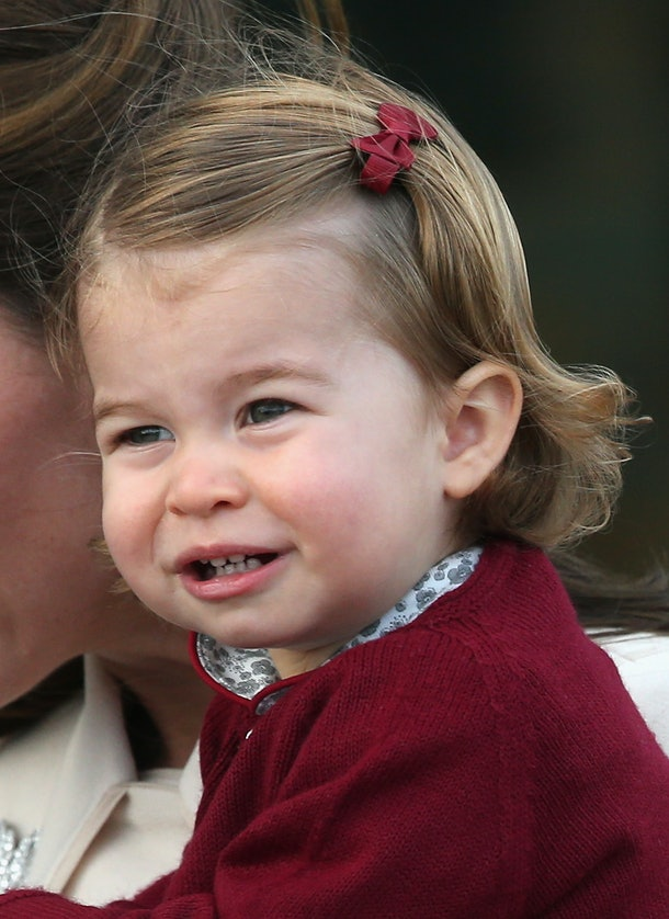 Princess Charlotte had a mouth full of teeth already