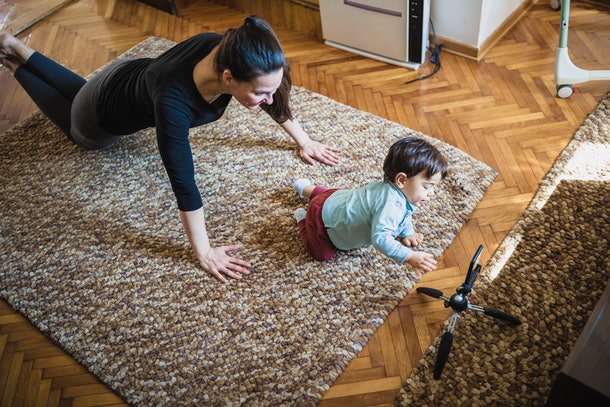 Work out at home with these online classes to do with your baby.