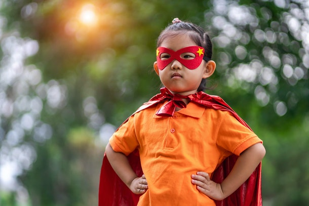 One tip for when your kid is afraid of face masks is to remind them that superheroes wear masks.