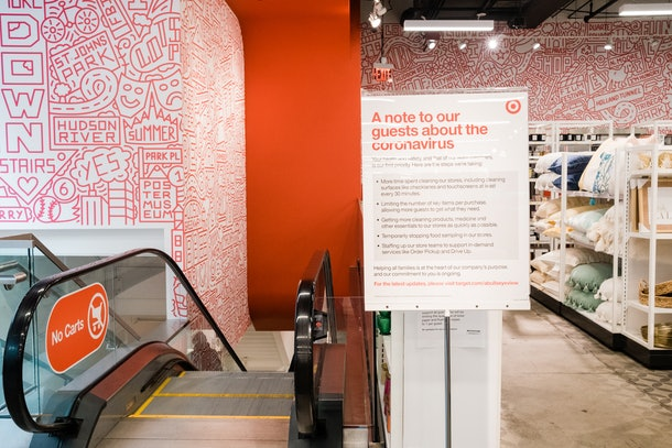 Employees at Target stores will now be encouraged to wear face masks and gloves to ensure their safety at stores.
