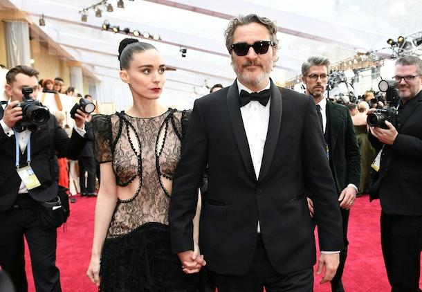 Rooney Mara and Joaquin Phoenix at the Oscars in 2020.