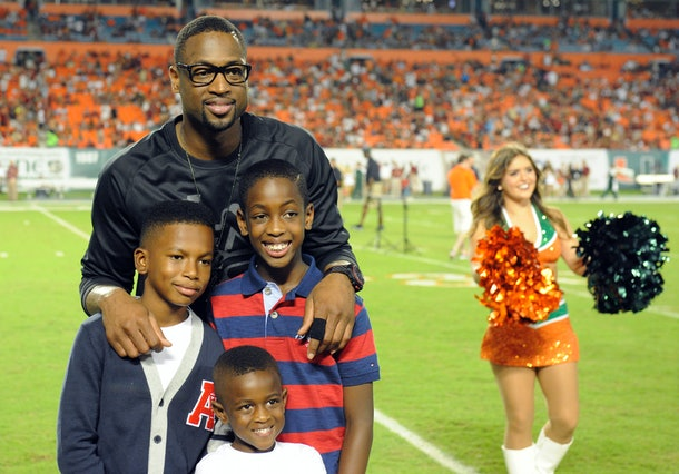 Dwyane Wade loves being a dad.