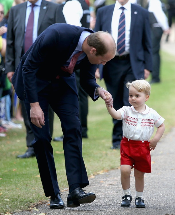 Prince William is all about eye contact with his kids.
