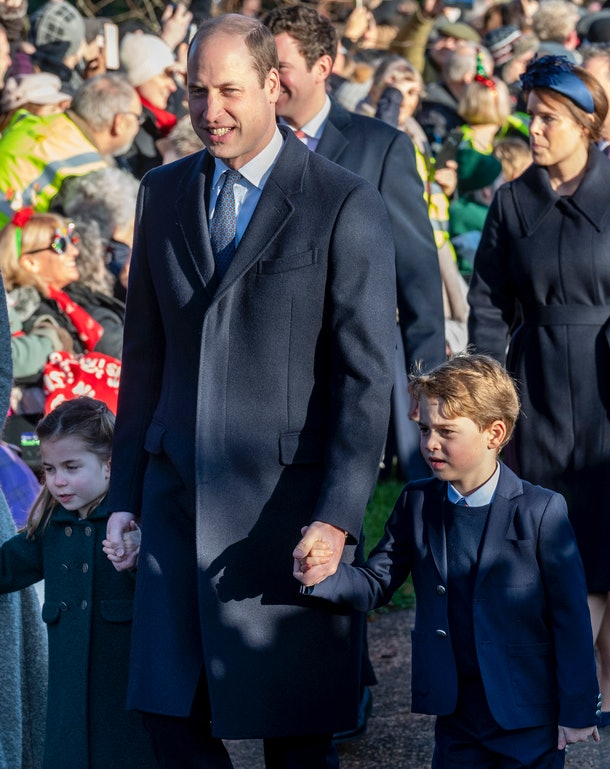 Prince William took his kids to church on Christmas Day.