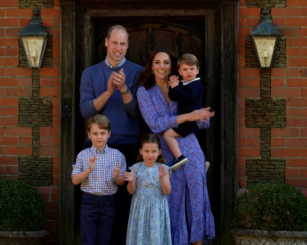 The Cambridge family clapped for carers in 2020.