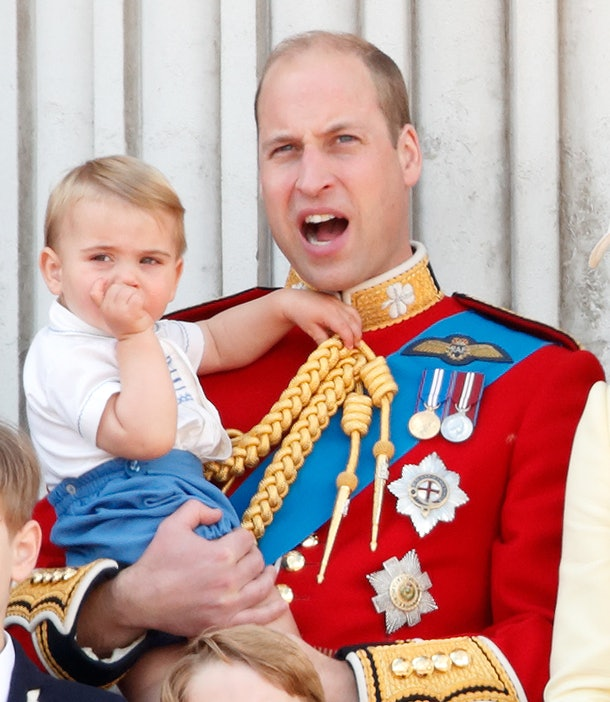 Prince William holds Prince Louis close in 2019.