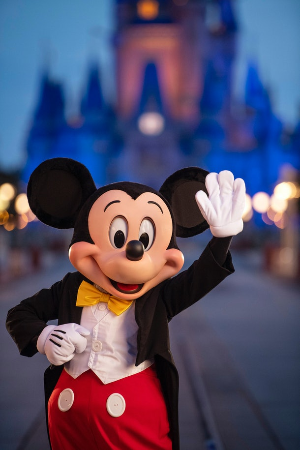 Mickey Mouse seems to think he doesn't have to wear a  mask.