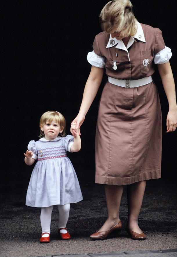 Princess Beatrice wore a very similar dress to Princess Charlotte.