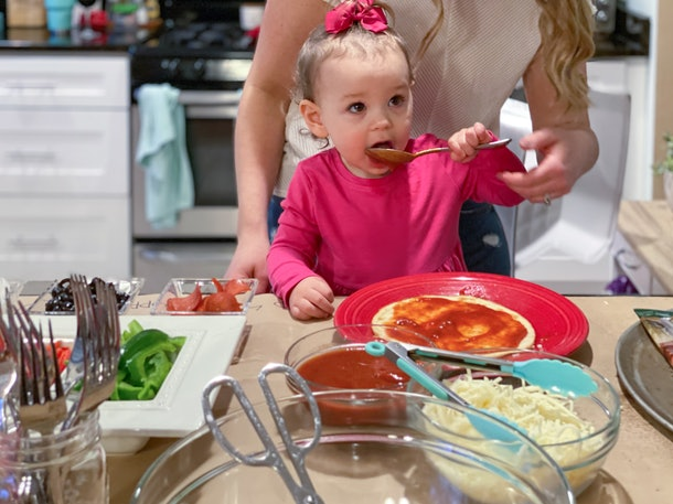 Experts say pizza can be a healthy, well-balanced meal for babies if you make it yourself.