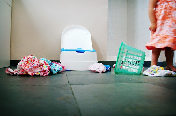 Stress can be one major reason for potty training regression.