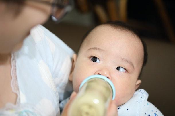 baby bottle-feeding