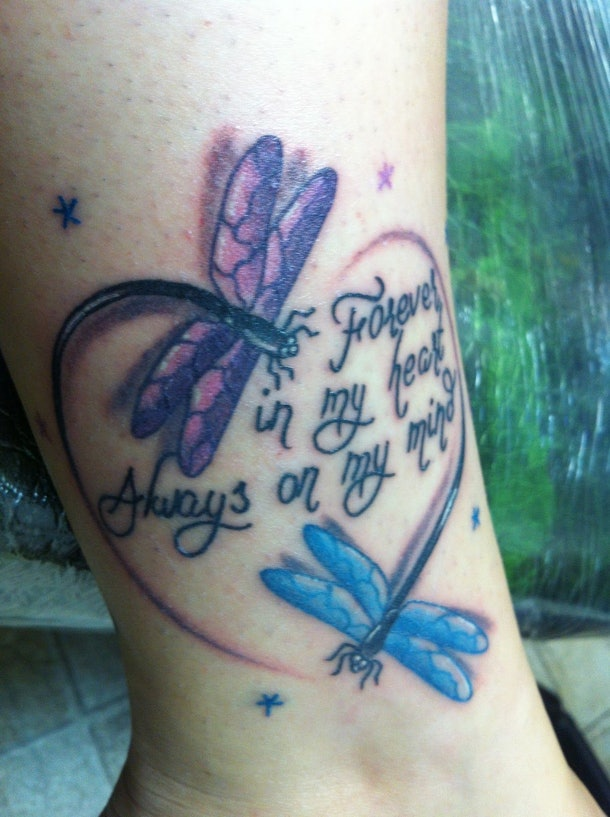 11 Purple Butterfly Tattoos To Honor The Baby You Lost