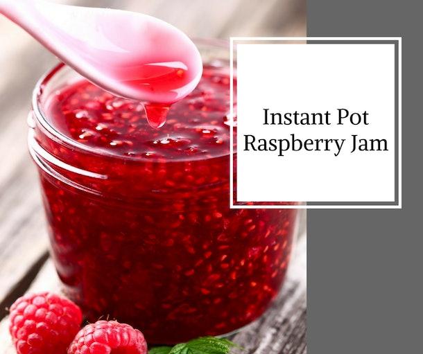 glass jar of raspberry jam