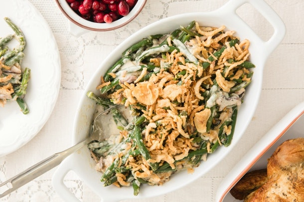 Make this green bean casserole recipe in your Instant Pot for Friendsgiving 2019.