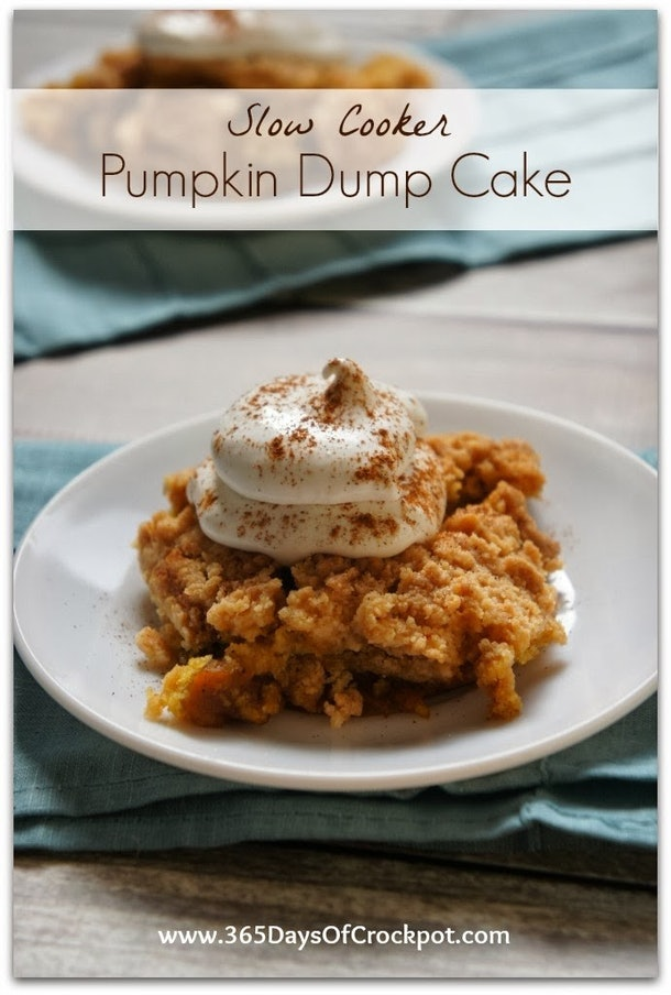 deconstructed pumpkin cake on a plate with whipped cream sprinkled in with cinnamon on top