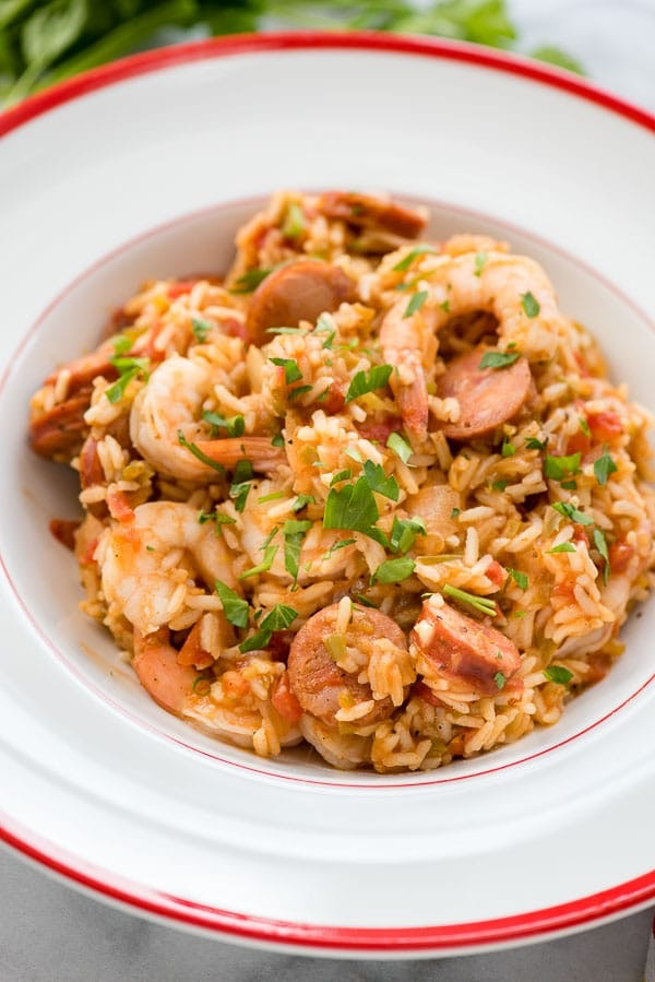 bowl of jambalaya