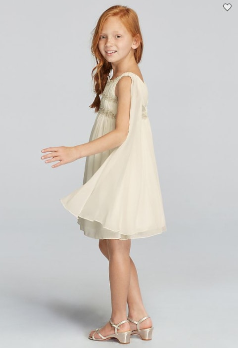 16 boho flower girl dresses so cute theyll steal the show well 5chiffon flower girl dress with back streamers davids bridal mightylinksfo