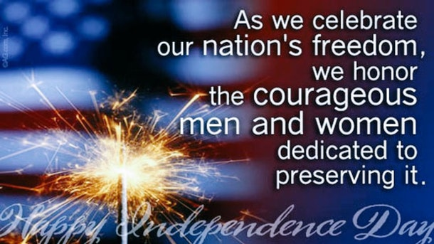 This patriotic meme for 4th of July honors those who serve to protect our freedoms.