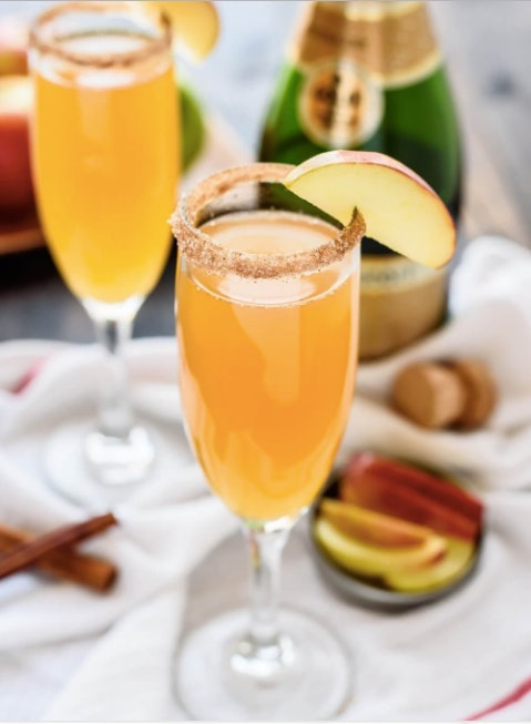 Apple cider champagne cocktail