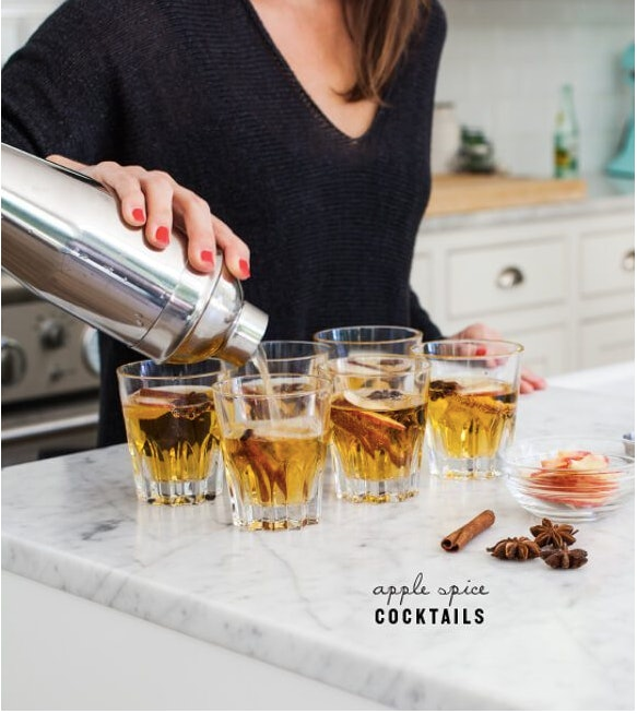 Apple spice cocktails