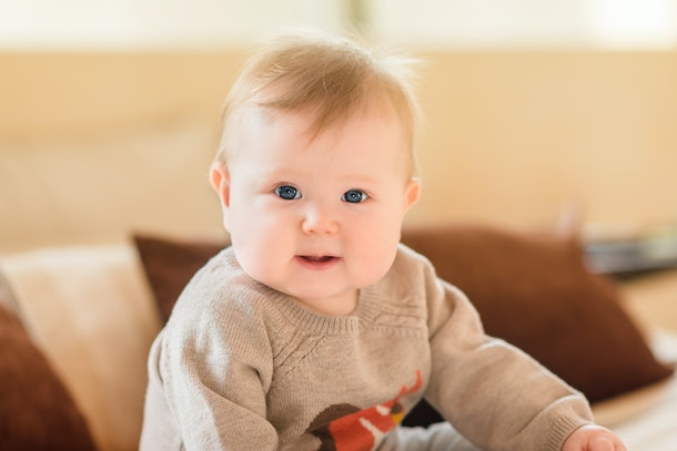 A super cute chubby-cheeked baby is also pure science — their cuteness is a survival factor, experts say.