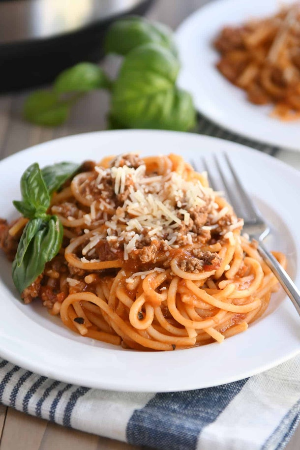 Instant Pot Recipes For Valentine's Day, instant pot spaghetti