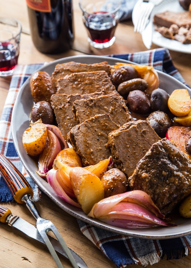 Nana's All-Day Crock Pot Roast • The Crumby Kitchen