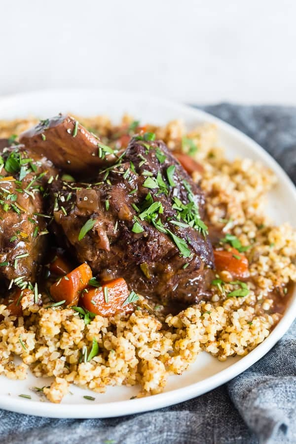 Instant Pot Recipes For Valentine's Day, instant pot red wine rosemary short ribs