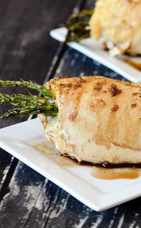 Instant Pot Recipes For Valentine's Day, instant pot asparagus stuffed chicken breasts