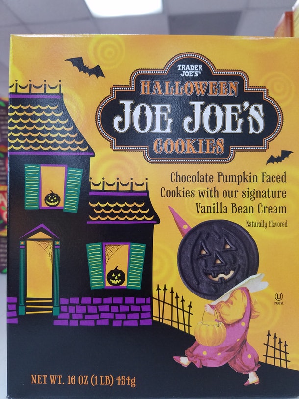 Trader Joe's Halloween Joe-Joe's are a seasonal variation on their popular sandwich cookie.