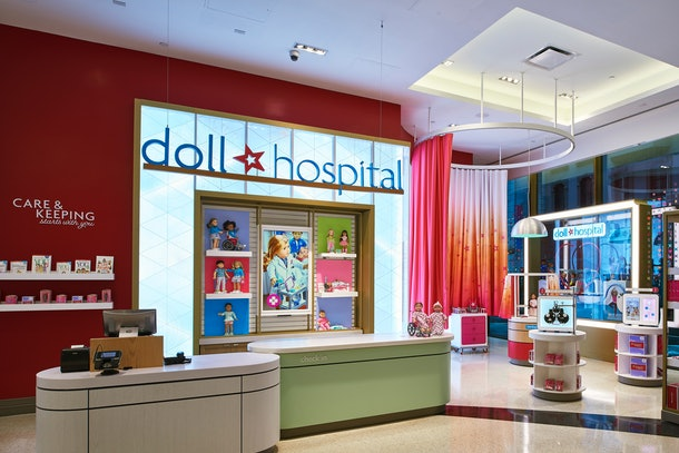 The American Girl Doll Hospital offers wellness exams, interactive play stations, and a certificate of good health