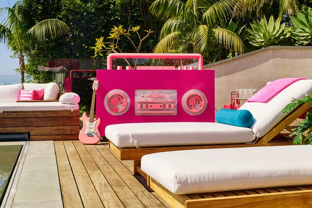 pool lounging are at barbie malibu dream house