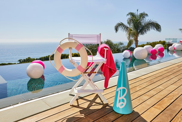 Close up of infinity pool at Barbie Malibu Dream house