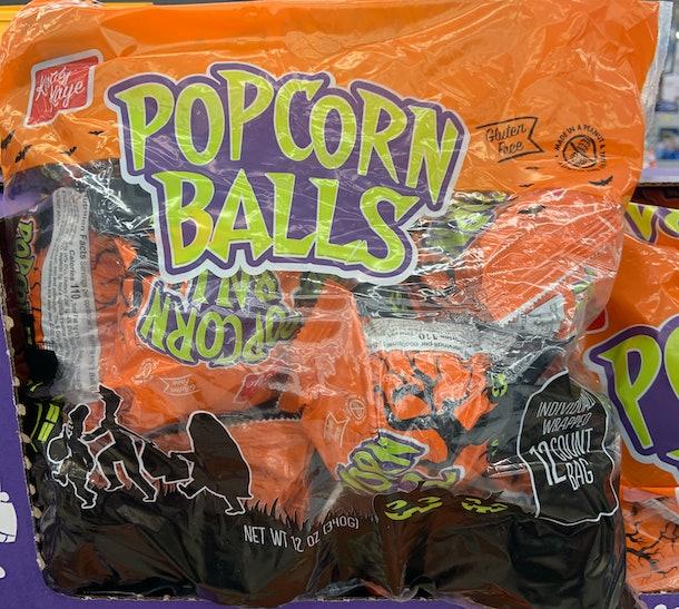 Kathy Kaye popcorn balls Halloween treat
