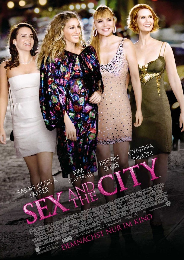 Sex And The City Movie Poster- 4 women stand on a New York street
