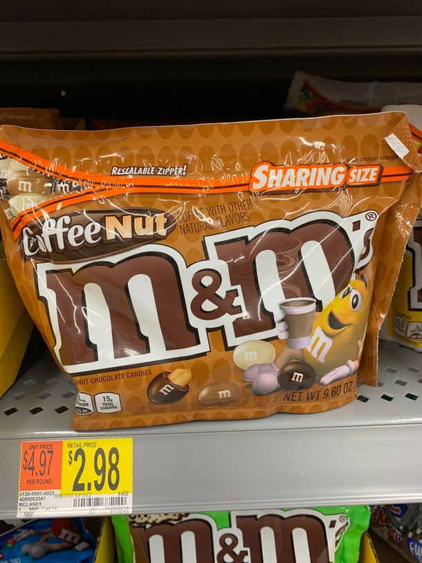 M&M's Coffee Nut candy