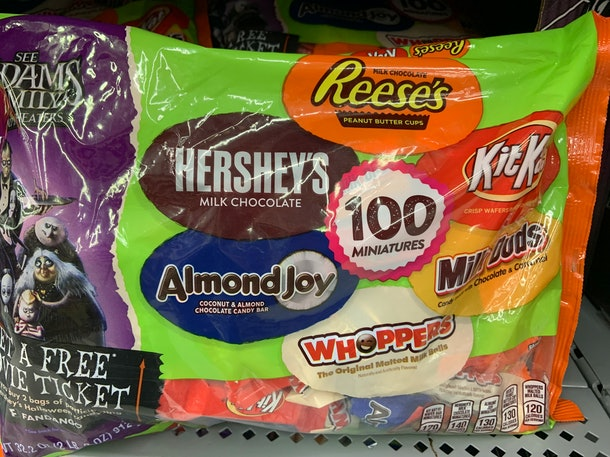 Almond Joy Kit Kat Hershey chocolate candy for Halloween