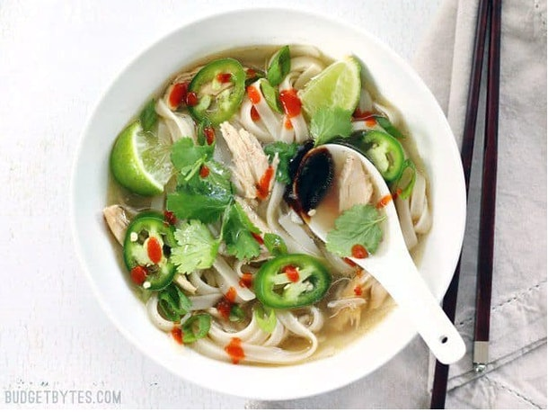 The quickie faux pho soup recipe from Budget Bytes can be ready in 20 minutes