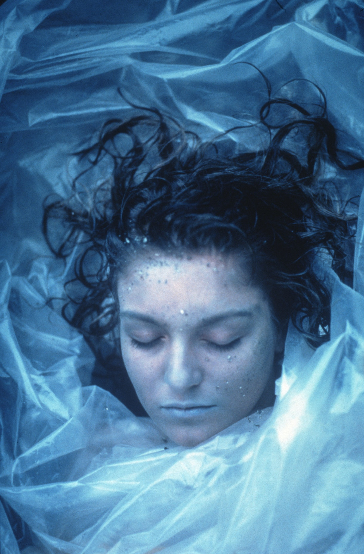"Laura Palmer's dead body is found on ""Twin Peaks."""