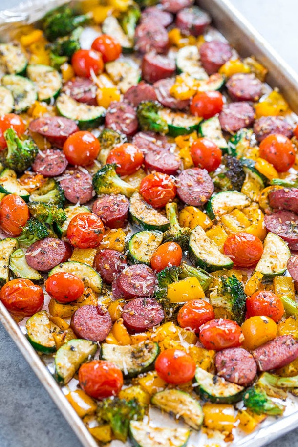 sheet pan recipes with pork, Sheet Pan Sausage And Vegetables