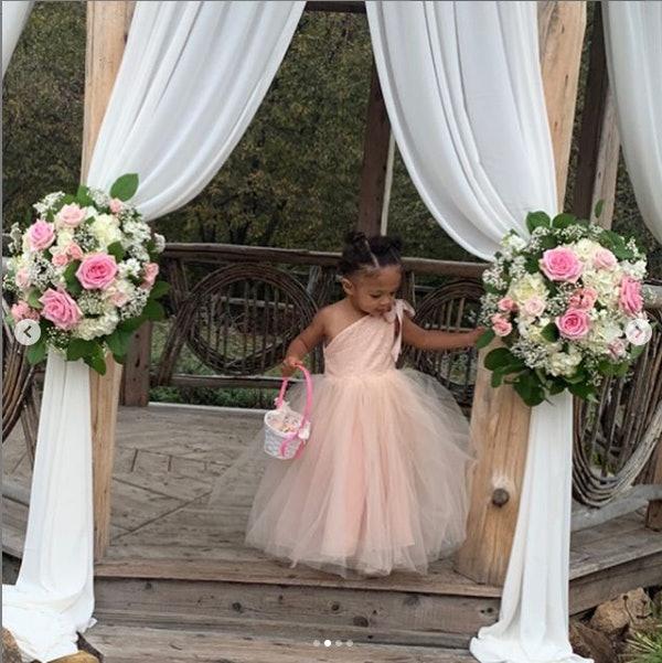 Olympia Ohanian on flower girl duty