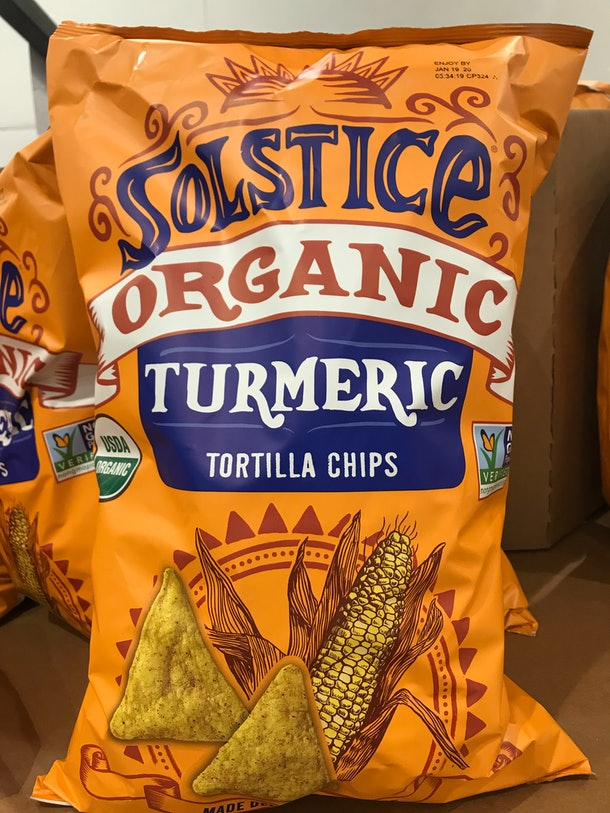 Solstice Organic Turmeric Tortilla Chips from Costco