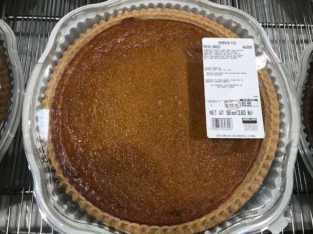 Costco pumpkin pie