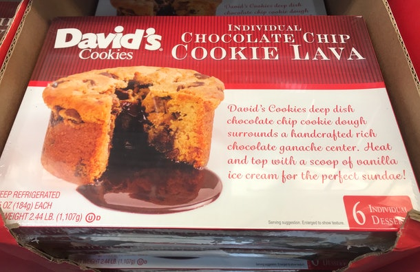 David's Chocolate Chip Cookie Lava from Costco