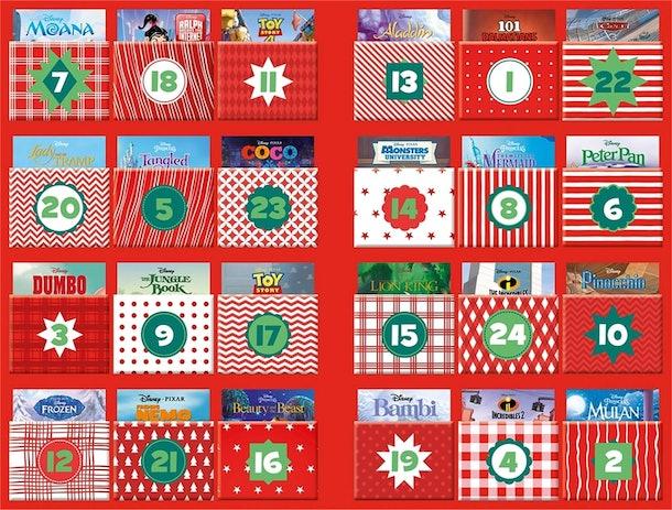 Disney storybook advent calendar