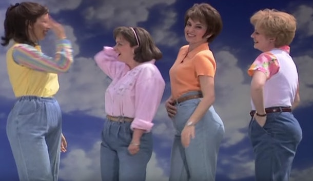 "Photo of SNL Cast during ""Mom Jeans"" Sketch"
